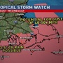 Coastal areas in RI and MA under storm watch until further notice