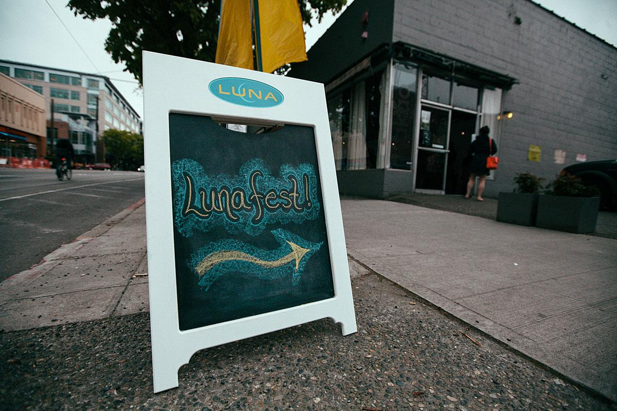 LUNAFest, the national tour of short films for, by and about women, took place last night in South Lake Union. Dedicated to promoting awareness on women's issues and particularly featuring female leaders in society, multiple local companies came together to make this night successful - with all proceeds going to the Breast Cancer Fund and Reel Grrls.   PoDog and Grim's provided munchies, and Yelp Seattle threw in some popcorn for during the films. Hilliard's Beer made a debut, and blowouts by Gene Juarez Salon & Spas made the ladies feel luxurious.   LUNAFest as a whole has raised over $456,000 for the Breast Cancer Fund, and over $785,000 for other women's non-profit organizations. (Image: Joshua Lewis / Seattle Refined)