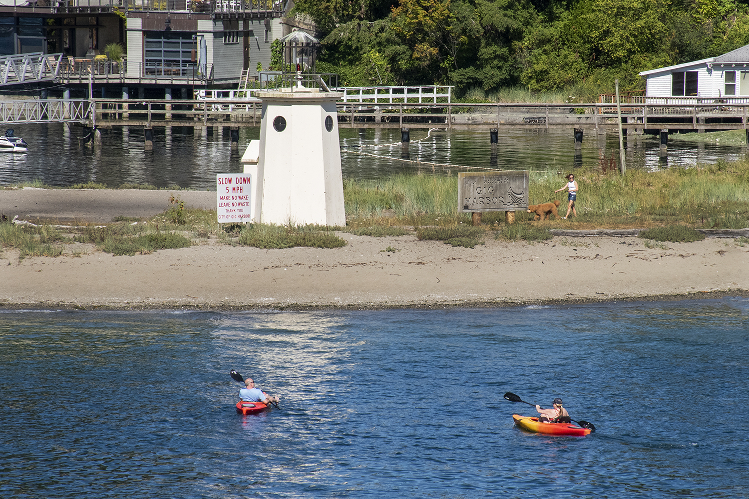 The smallest, working lighthouse in Washington state is just a 10-minute drive from Tacoma. At 15 feet tall, Gig Harbor Lighthouse was built in 1988 to provide casual boaters a private navigational aid. To get a closer look, rent a kayak in the nearby marina and paddle right up to the sandy shore. (Image: Rachael Jones / Seattle Refined)