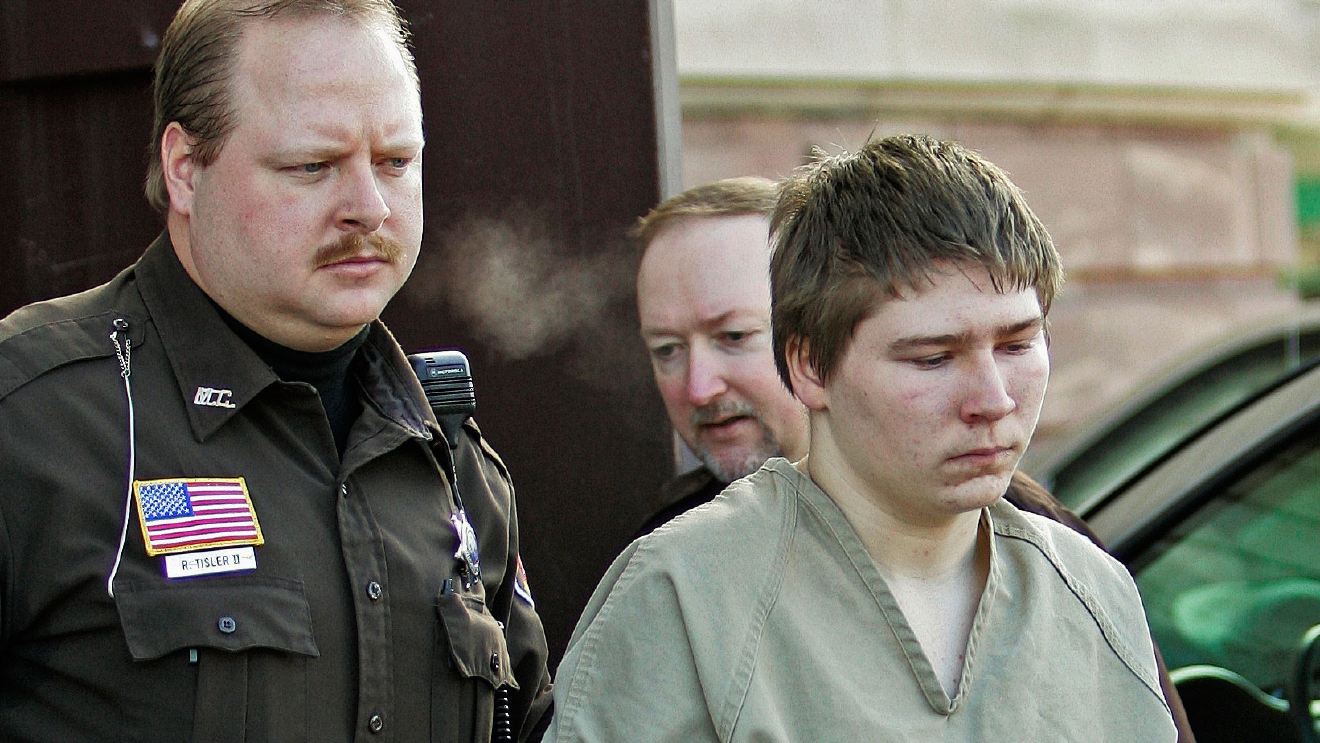 In this March 3, 2006, file photo, Brendan Dassey is escorted out of a Manitowoc County Circuit courtroom. (AP Photo/Morry Gash, File)