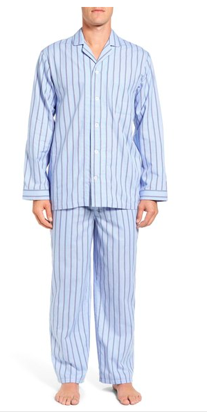 Nordstrom Men's Shop Poplin Pajama Set ($59.50). Find on nordstrom.com. (Image courtesy of Nordstrom)