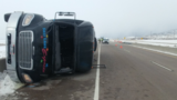 'Salt Lake Express' shuttle bus rolls over on I-15