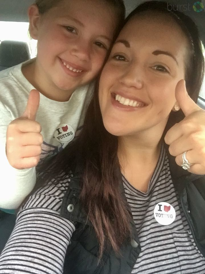 Allison went to vote in Groveport, and it was a thumbs up (submitted via Burst)