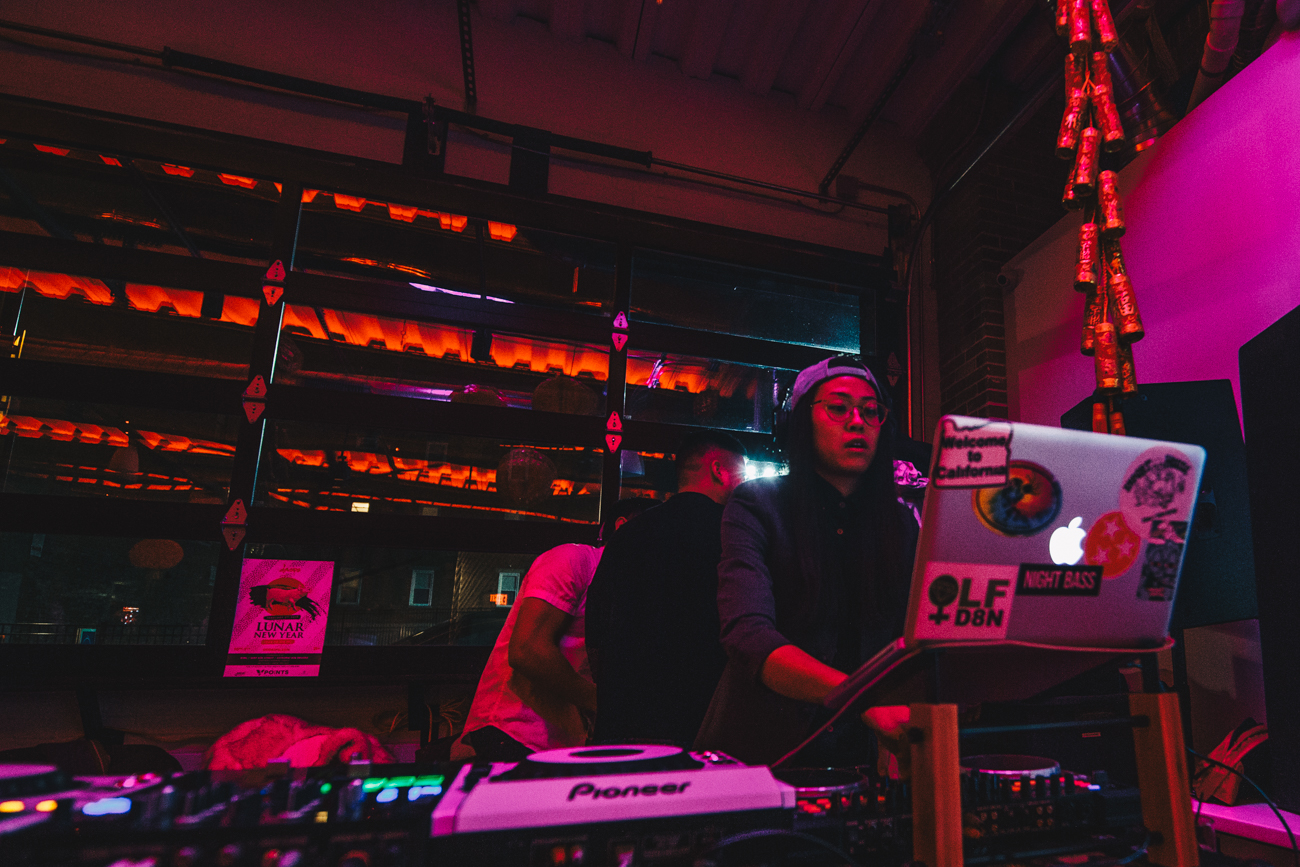 3 Points Brewery rang in the Lunar New Year on February 2. Celebrating the year of the pig, patrons enjoyed DJ'd music and dancing. An aerial hoop suspension group also performed for brewery-goers. / Image: Catherine Viox // Published: 2.3.19