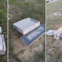 PHOTOS: Vandals damage Colleton County church cemetery