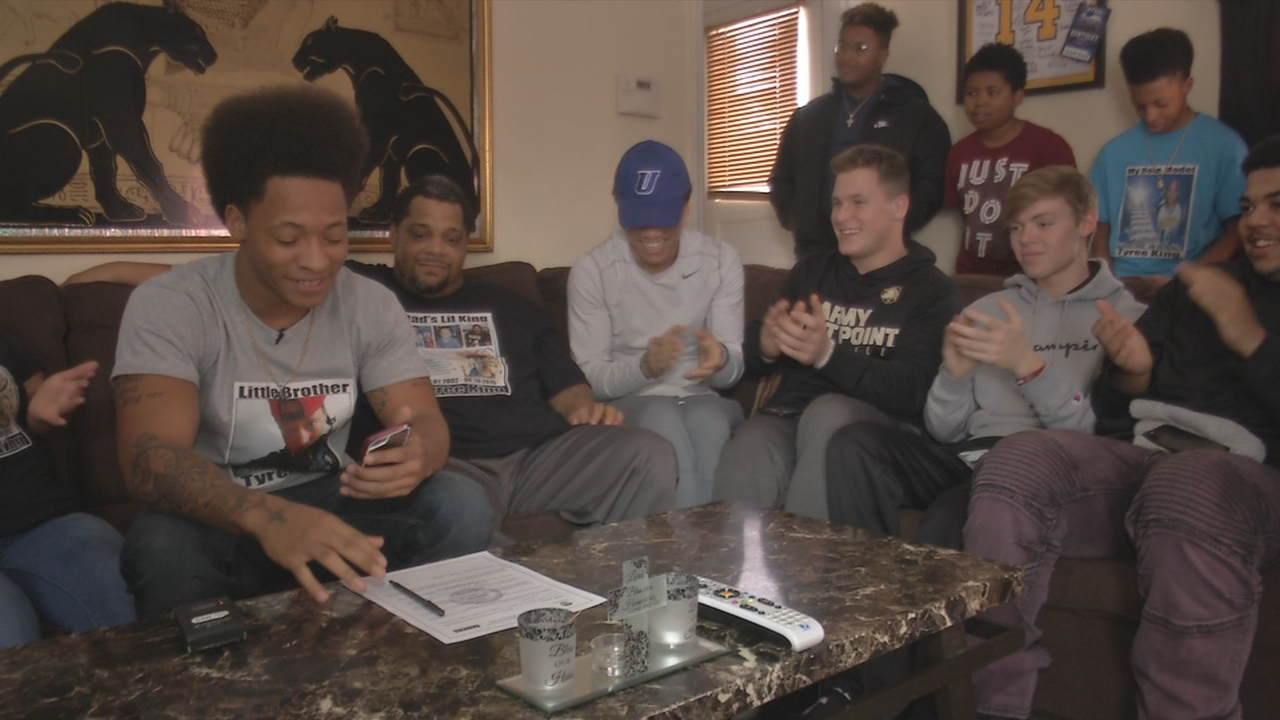Teen commits on National Signing Day despite winter weather to honor his brother (WKEF/WRGT)