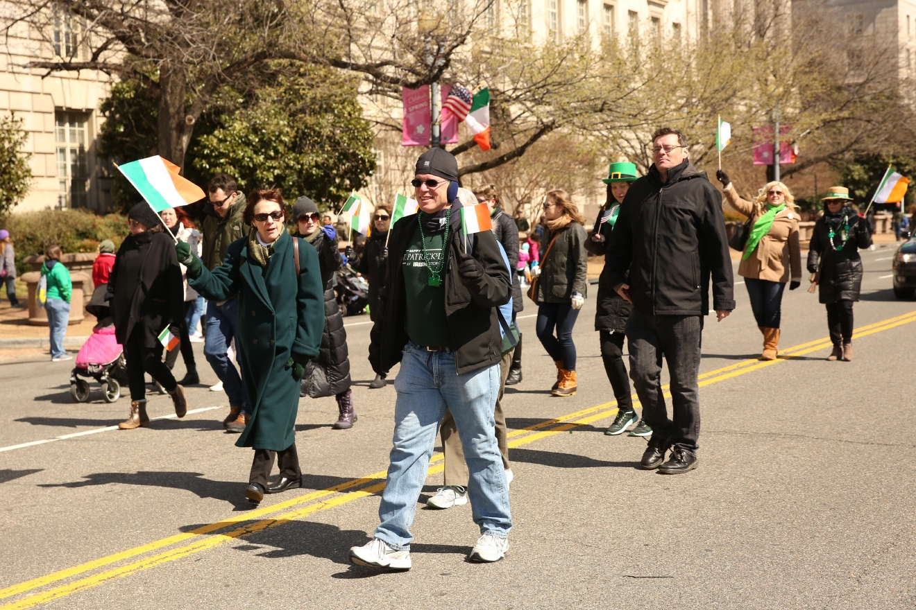 On March 12, Constitution Ave. was flooded with green attire and marching bands during the annual St. Patrick's Day parade. Although other cultures were represented, there was no shortage of Irish flags. (Amanda Andrade-Rhoades/DC Refined)