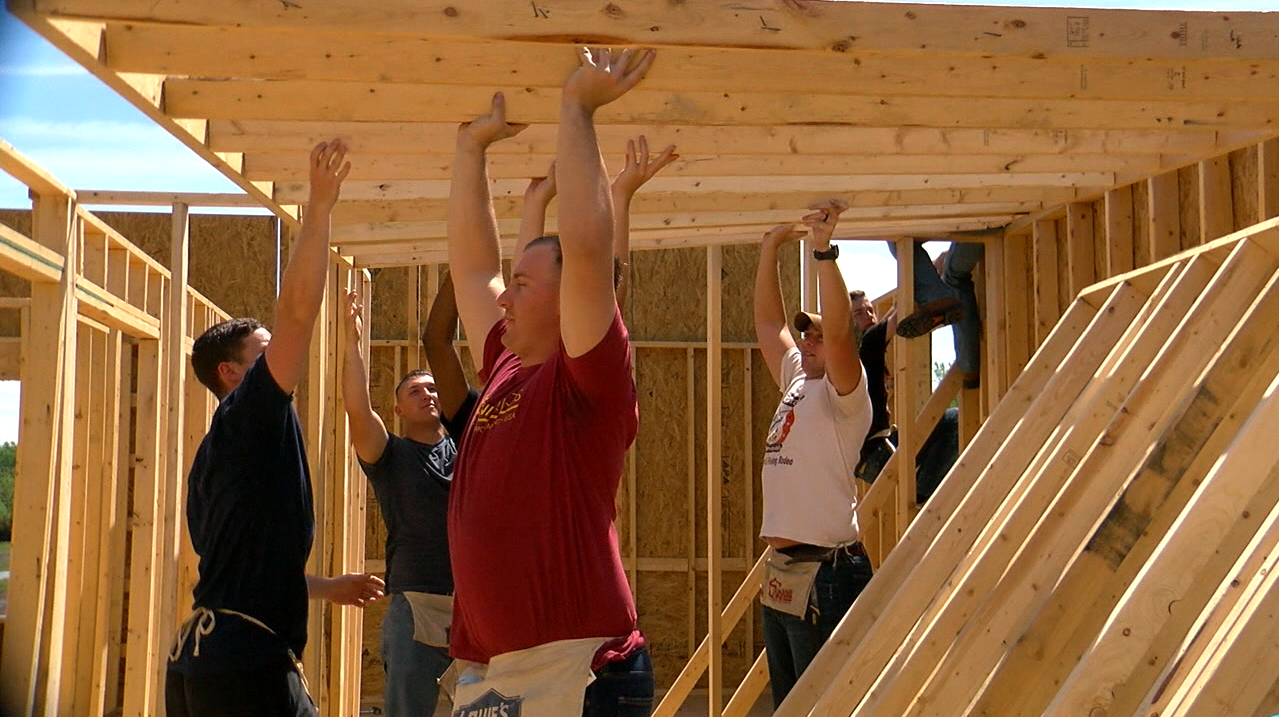 The Marines Were Primarily Busy Doing Some Of The Frame Work For The House.  (