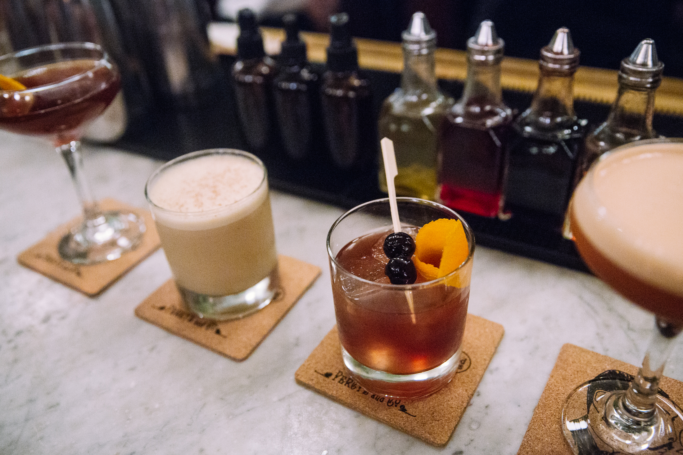 Drinks #1-4 of manager Bode Craig's winter recommendations. (Image: Joshua Lewis / Seattle Refined)
