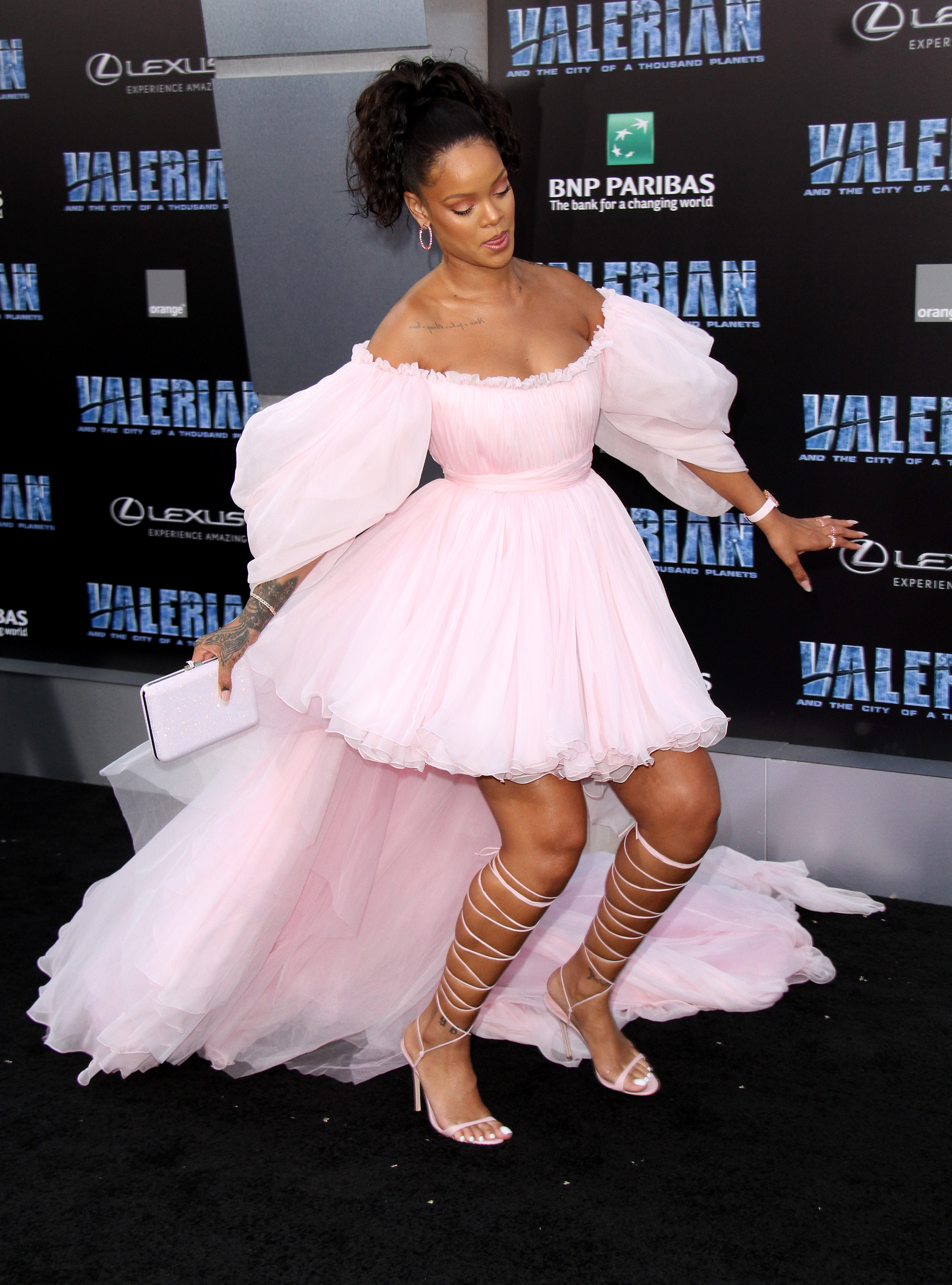 World premiere of 'Valerian and the City of a Thousand Planets' at the TCL Chinese Theatre - Arrivals                                    Featuring: Rihanna                  Where: Los Angeles, California, United States                  When: 17 Jul 2017                  Credit: Adriana M. Barraza/WENN.com