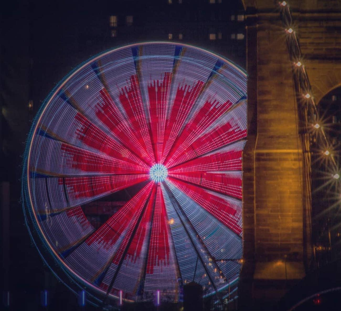 The SkyStar is the largest traveling observation wheel in the country. Guests are carried in gondolas up almost 15 stories high while overlooking the Ohio River. The 36 carriers are climate-controlled and can hold up to six people. The magnificent structure will only call The Banks its home through December 2nd before it's packed up and rolled to a new city. SkyStar runs daily, and tickets are $12.50. ADDRESS: 55 East Freedom Way (45202) / Image courtesy of Instagram user @tevi23 // Published 9.12.18<br>