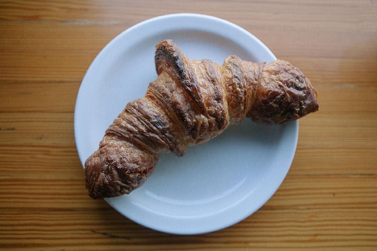 This croissant is the most buttery of the bunch. (Image: Jenny Kuglin / Seattle Refined)