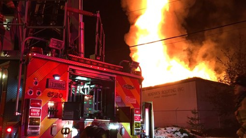Early Morning Blaze Burns Through Business In Lacey Komo