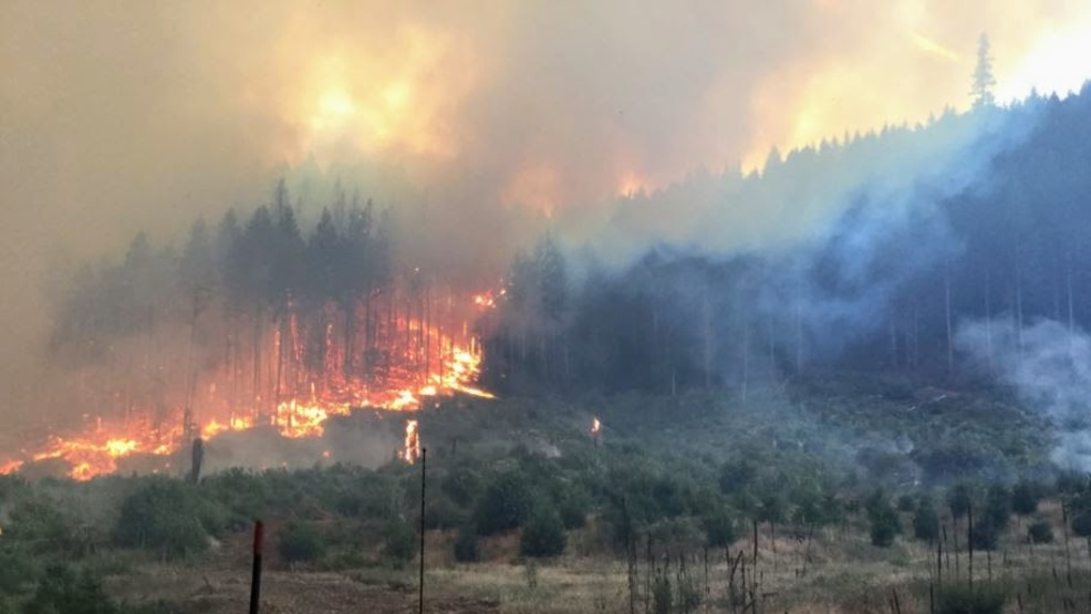 dry creek fire burning in washington measured at 322 acres