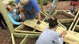 Grand Blanc East Middle School students build gazebo
