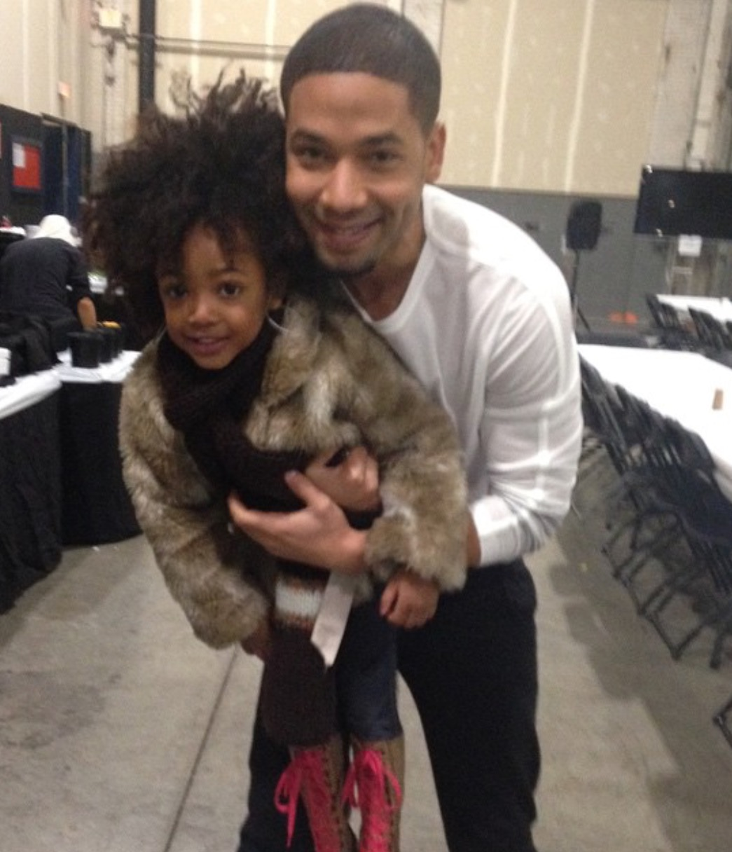 Leah Jeffries with actor, Jussie Smollett who plays Jamal Lyon on Empire.