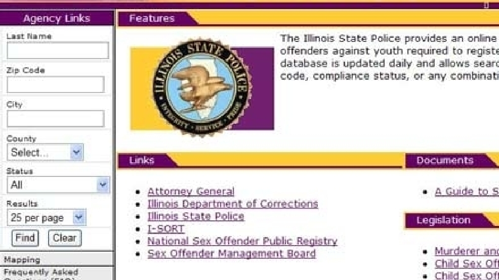 Opinion illinois sex offender web site