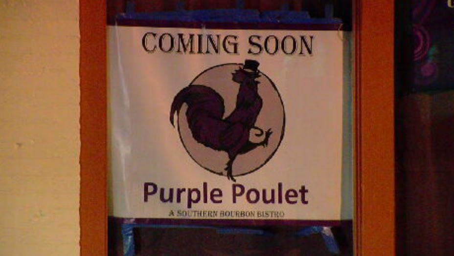 Northern Kentucky is getting a new bourbon-inspired restaurant called the Purple Poulet. (WKRC)