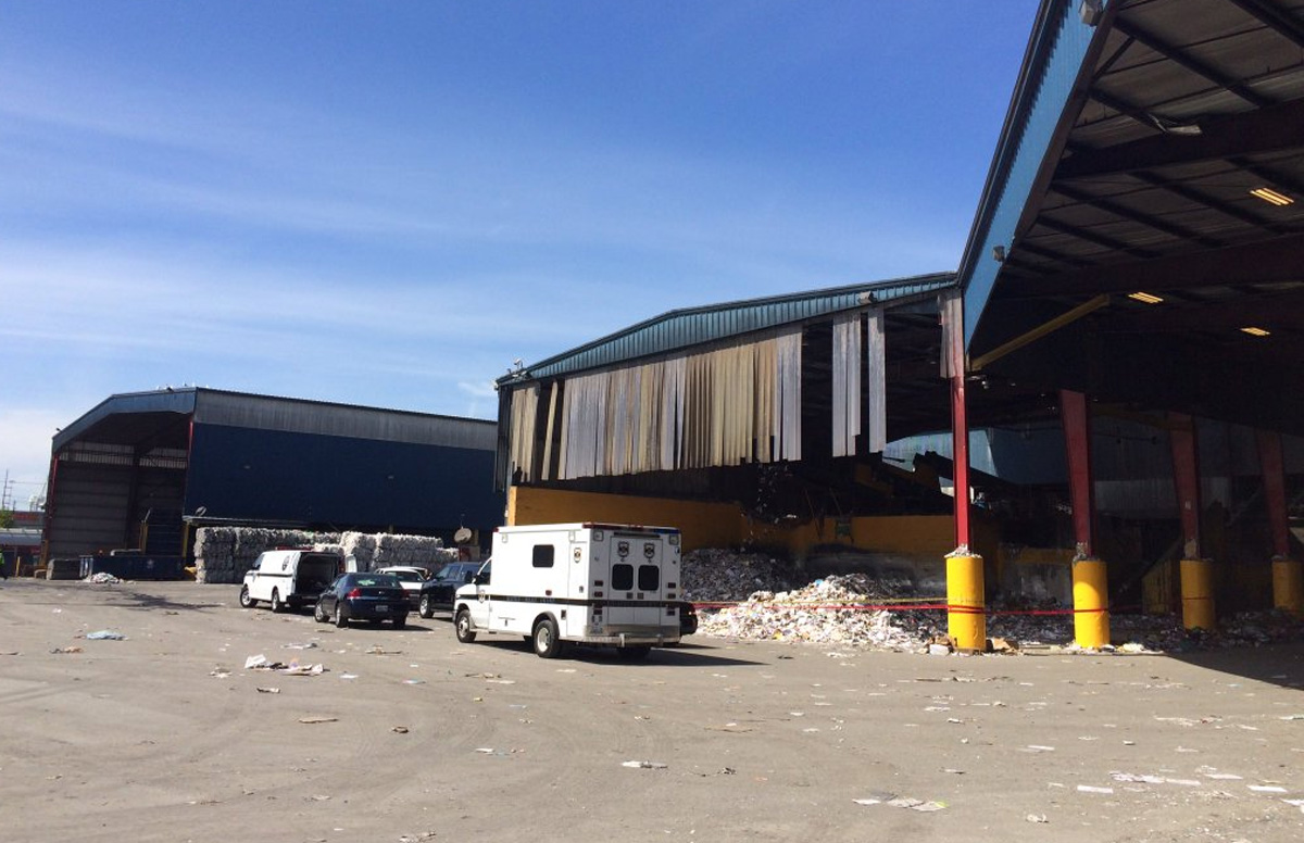 The latest set of remains was found at this Seattle recycling facility. (KOMO photo)