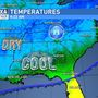 Cooler Fall air moves into Middle Georgia after yesterday's cold front