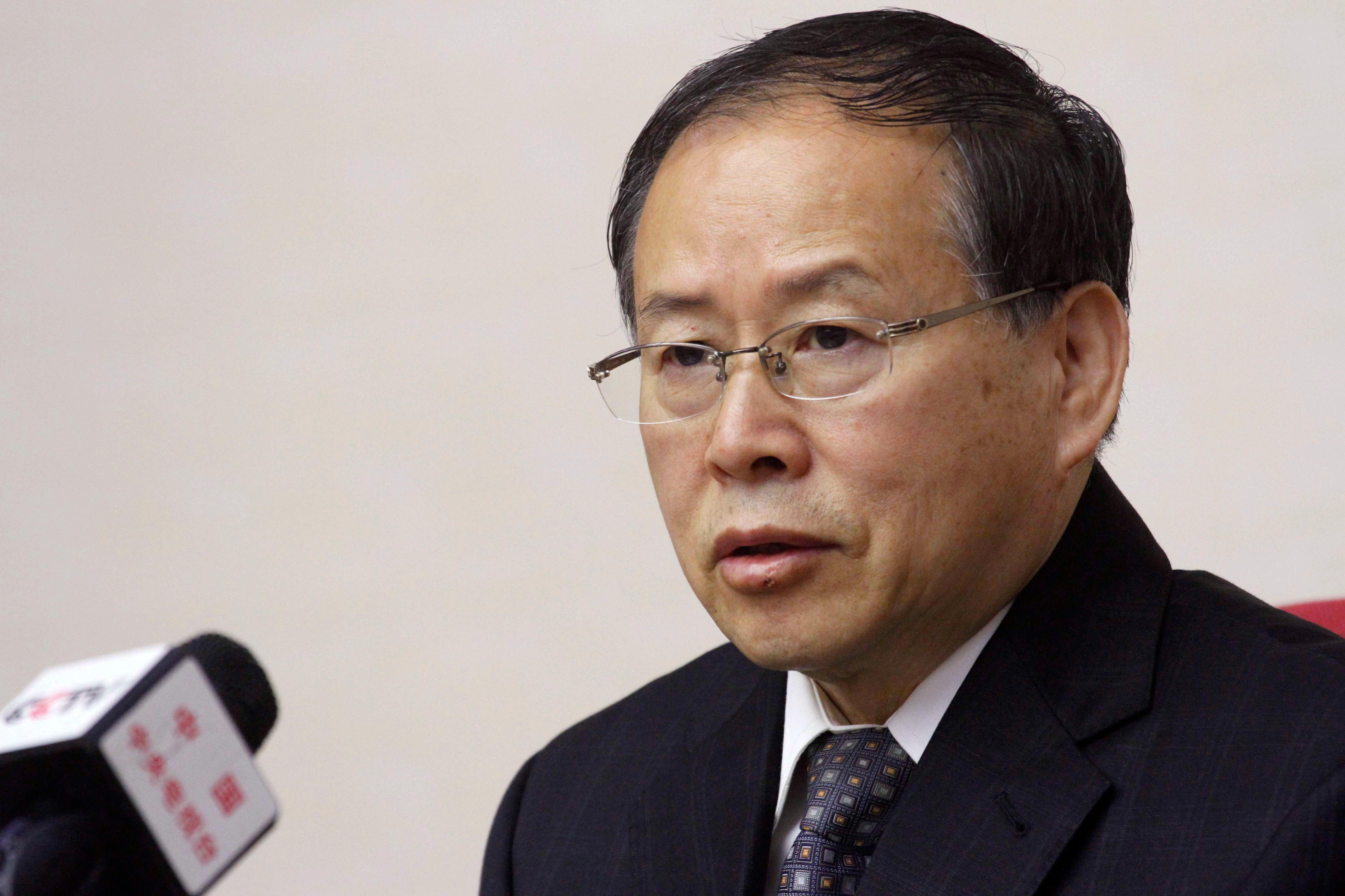 North Korea's Vice Foreign Minister Han Song Ryol speaks during a meeting at the People's Palace of Culture in Pyongyang, Thursday, May 11, 2017.  Pyongyang will seek the extradition of anyone involved in what it says was a CIA-backed plot to kill leader Kim Jung Un last month with a biochemical poison, Han, a top North Korean foreign ministry official said Thursday.(AP Photo/Jon Chol Jin)