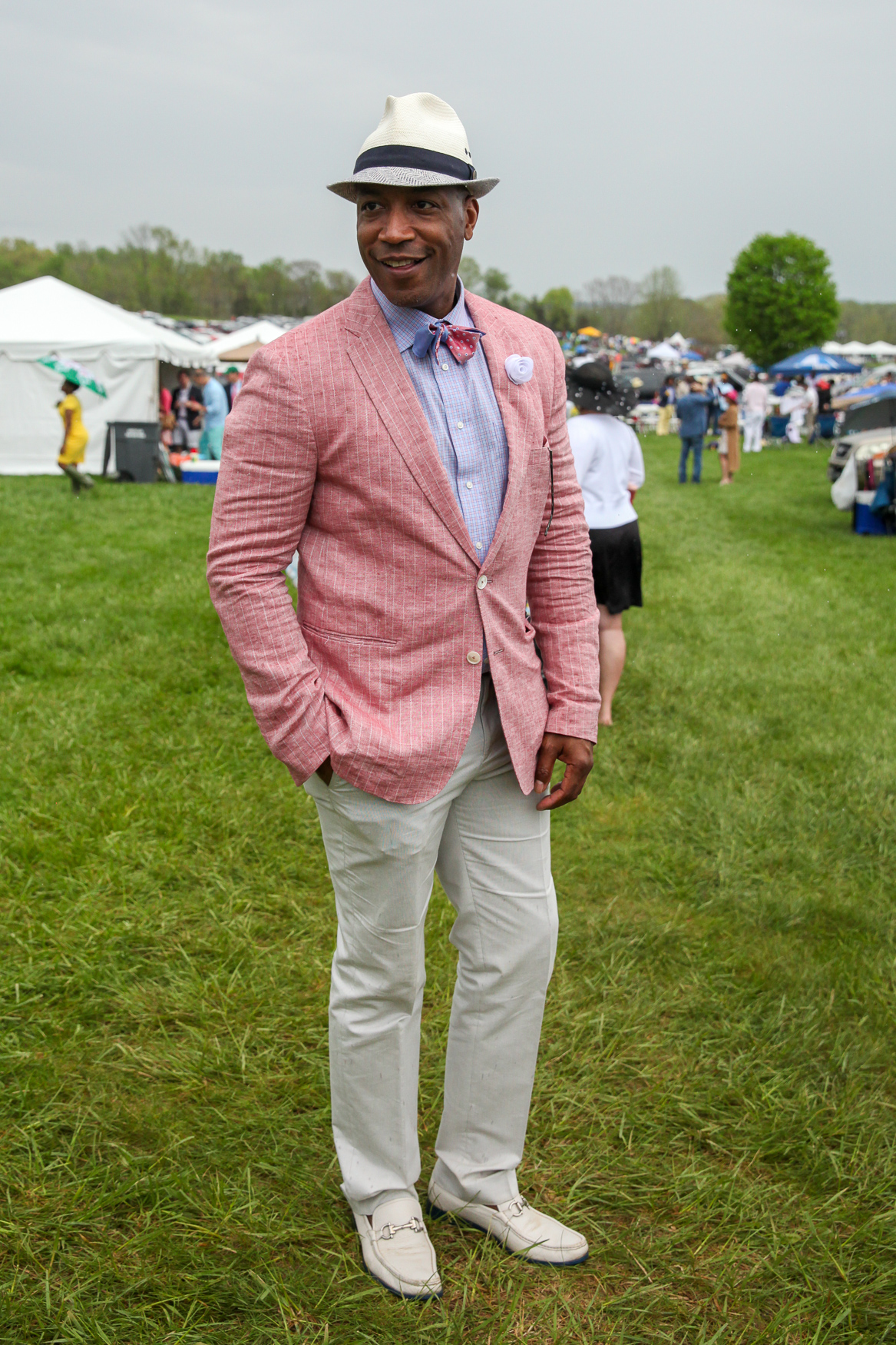 At Gold Cup:{ }This outfit is preppy but still super cool and understated. (Amanda Andrade-Rhoades/DC Refined)