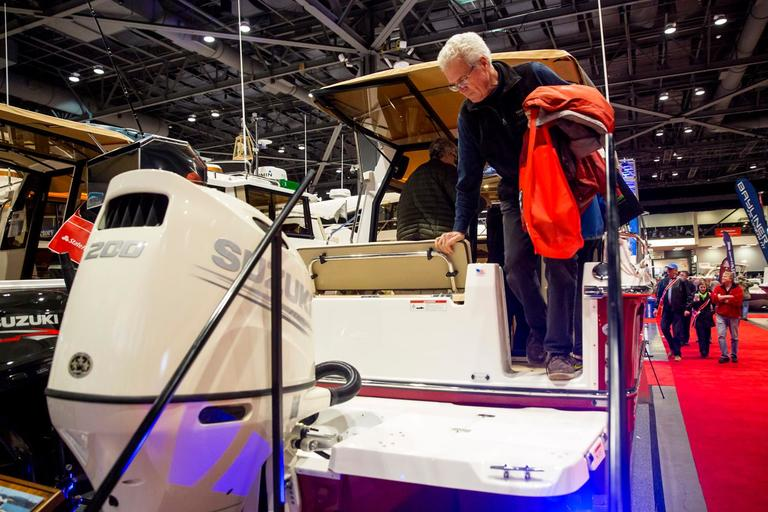 Your own personal tugboat! Who doesn't want one? At 27 feet, you can cruise the seas like a captain in the new 2018 Ranger Tug R-23 with a price tag starting at $139,029. (Sy Bean / Seattle Refined)