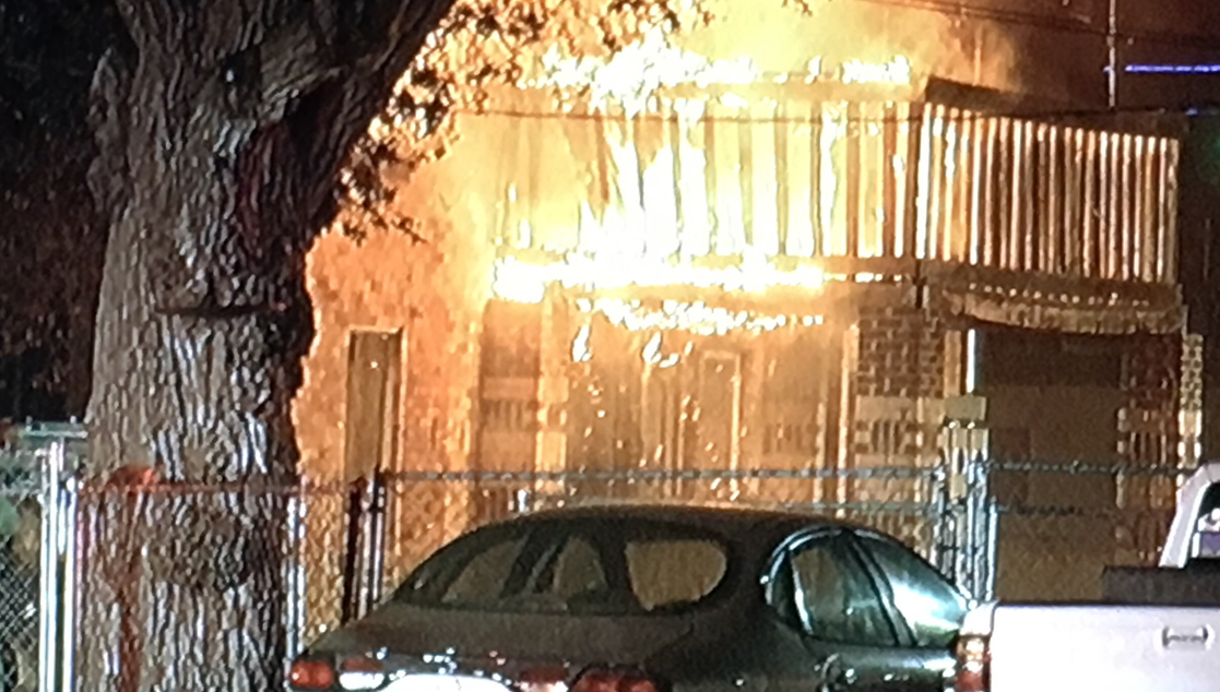 Amarillo Fire Marshal's Office believes Tuesday morning fire at 813 S.W. 8th Ave. was started by warming fire. (ABC 7 Amarillo)