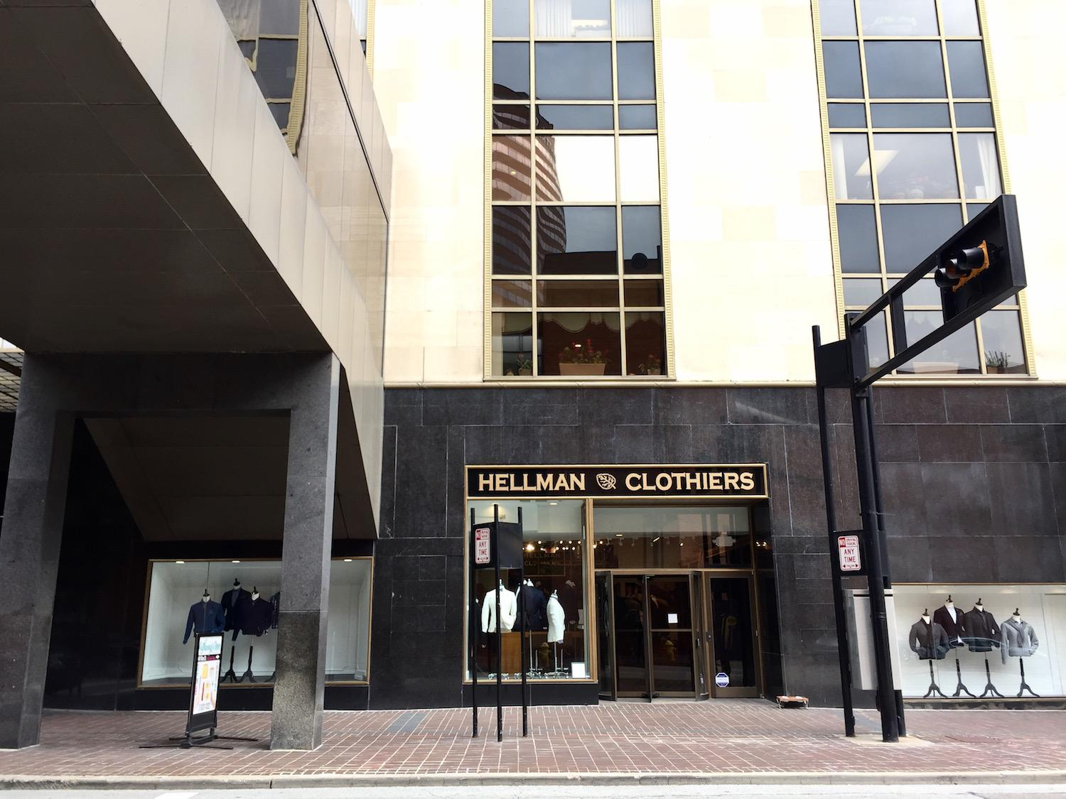Hellman Clothiers is a new menswear apparel retailer located in the Carew Tower. Owner Chuck Hellman also owns Blaine's Fine Men's Apparel in Montgomery. The Downtown Cincinnati store features designer clothing and upscale brands, starting at around $1000 for some blazers. ADDRESS: 441 Vine Street (45202) / Image: Leah Zipperstein, Cincinnati Refined // Published: 11.2.17