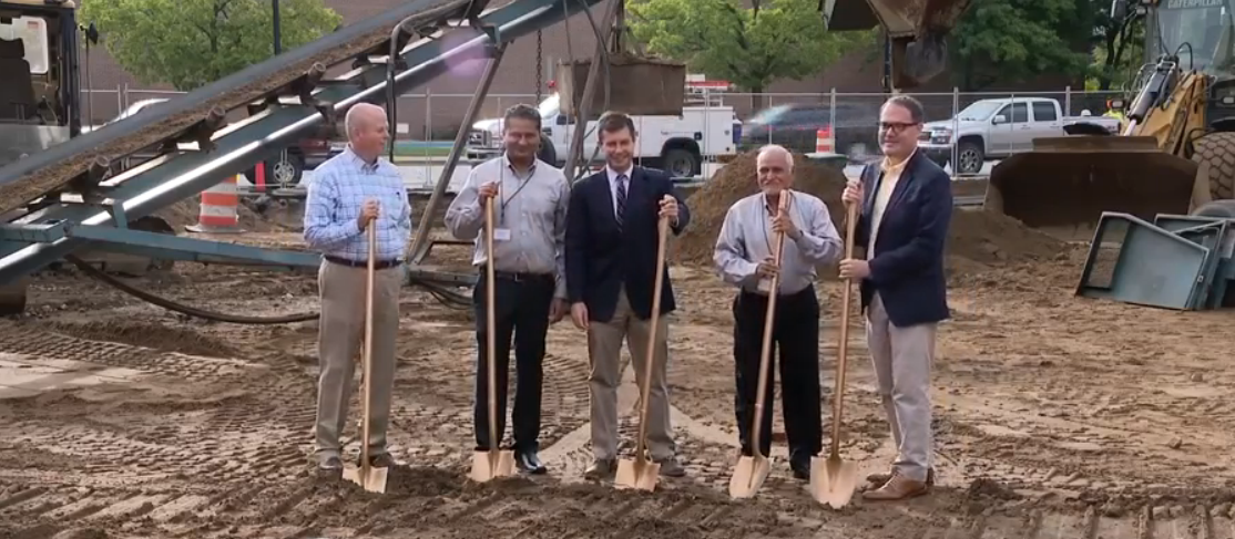 The ground-breaking of the $14 million project in 2016. //{ }WSBT 22 photo