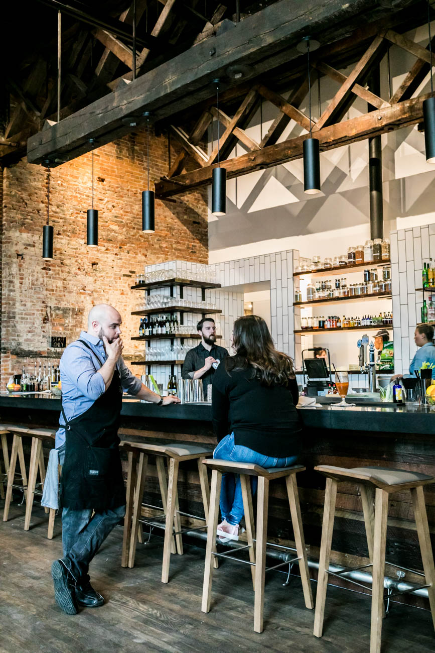 Aster is a new Downtown bar and brunch spot on the third floor of the building located at 8 E. 4th Street. It serves cocktails and food until closing time every night (except Tuesday), and brunch from 11 a.m. to 3 p.m. Saturday and Sunday./ Image: Amy Elisabeth Spasoff // Published: 2.6.18