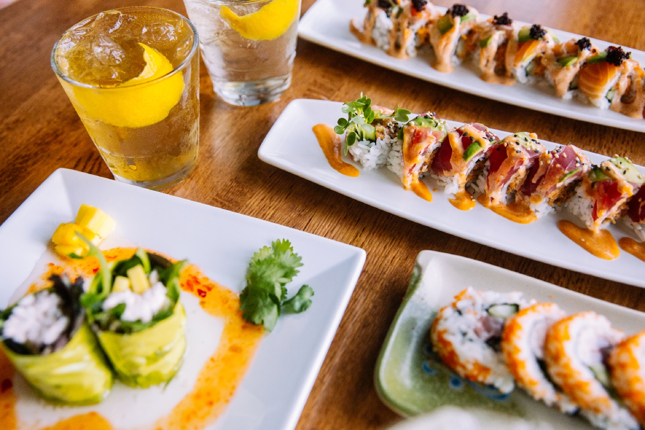 Sansei showed us four cocktails we'll definitely be revisiting all winter long. Better yet, head bartender Trey Beattie paired each drink with sushi for us.  (Image: Joshua Lewis / Seattle Refined)