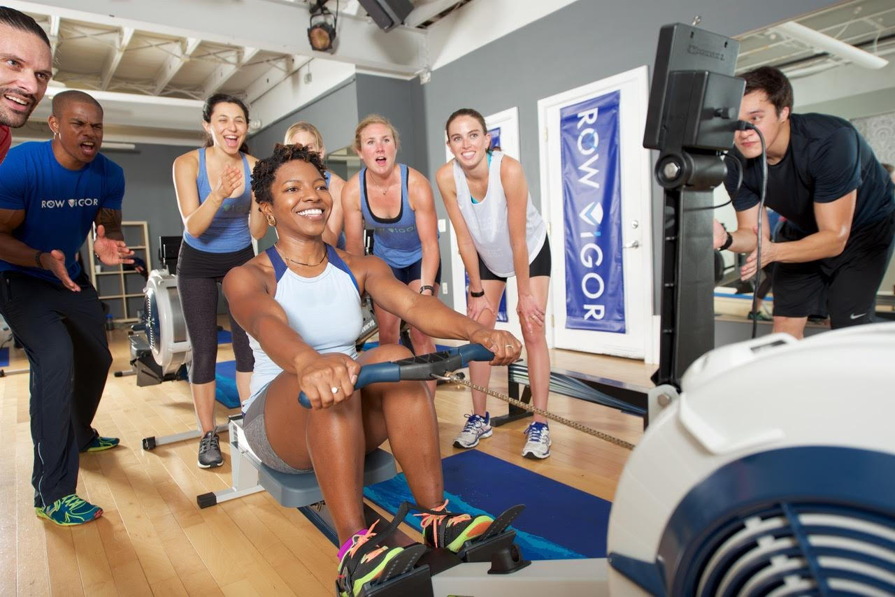 Indoor rowing burns more calories per minute than spinning and, compared to running, places less stress on the joints. (ROWViGOR)