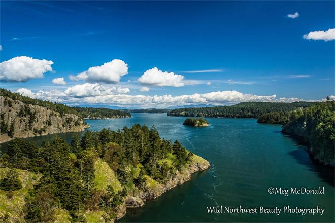 A stunning view from the Deception Pass bridge. Photo credit: Wild Northwest Beauty Photography.
