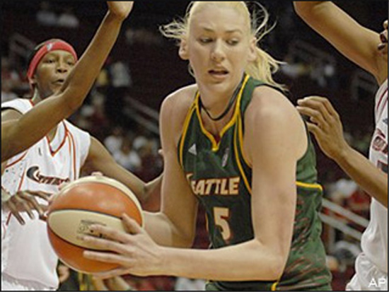 This cluster of Comets, originally discovered in Houston, is also defunct and may be difficult to see without some guidance -- look closely and you can spot one just to the left of Lauren Jackson there. These Comets were anointed the brightest stars in their league in the late 1990s and in 2000 but fizzled in 2009 and have not been seen since.
