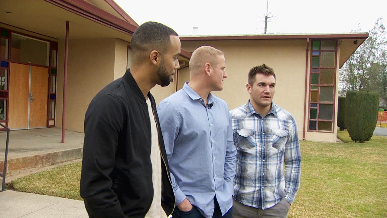 Friends, heroes and now actors: The three men who stopped a terrorist attack while on a train to Paris in 2015. From left to right: Anthony Sadler, Spencer Stone and Oregon's Alek Skarlatos. (KATU Photo)