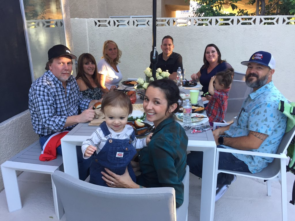 Faith's Rose family at Backyard Tailgate. 10/06/17 (Chloe Beardsley | KSNV){&amp;nbsp;}<p></p>