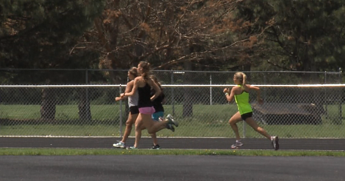 Members of the Grand Island Northwest track team warm up during practice, May 16, 2017 (NTV News)