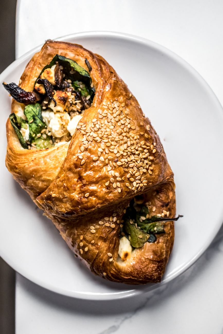 A veggie croissant from North South Baking Co. / Image: Catherine Viox{ }// Published: 8.5.20