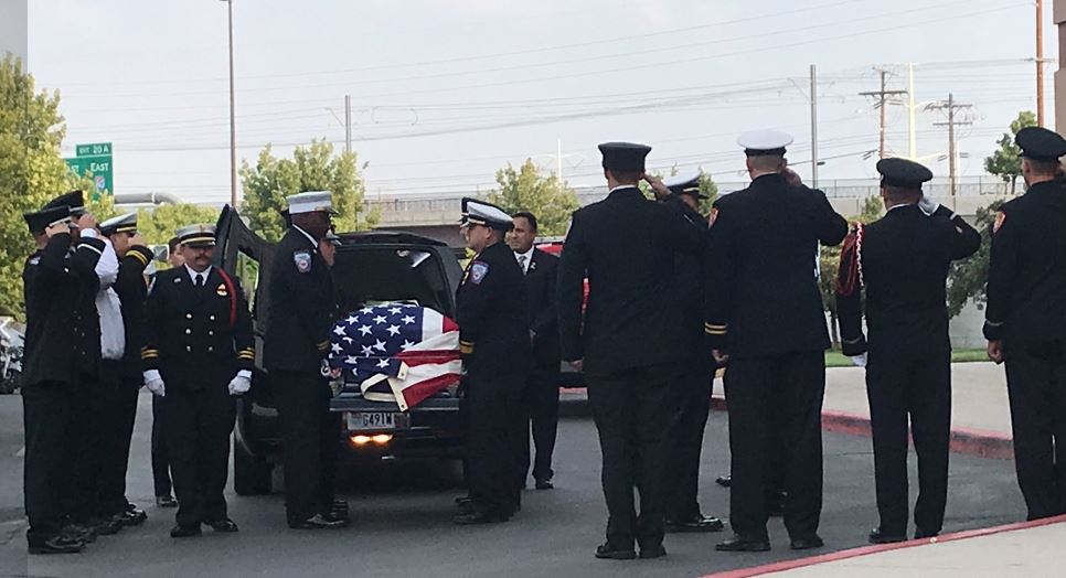 The life of Draper City Fire Department Battalion Chief Matt Burchett is being celebrated with funeral services Monday , 11 a.m., at the Maverik Center in West Valley City. (Photo: Morgan Saxton / KUTV)<p></p>