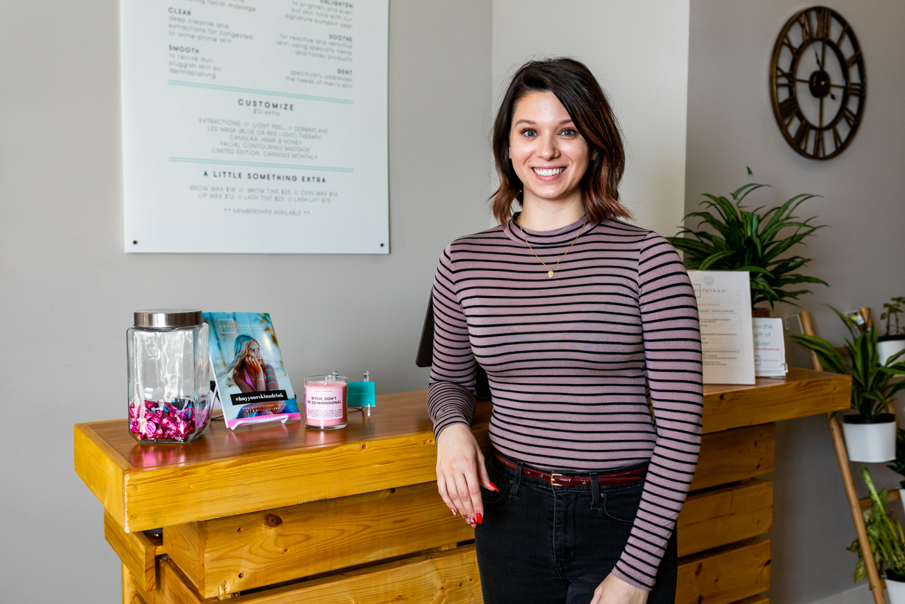 Emily Zook,{ }Oasis Face Bar manager  / Image: Amy Elisabeth Spasoff // Published: 3.17.19