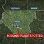 Missing plane spotted in mountainous area in West Virginia