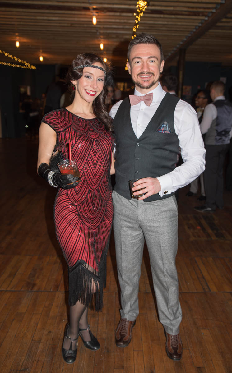 Pictured: Savannah Biedenbach and Matthew Owen / Event: Prohibition Party at The Woodward (Feb. 10) / Image: Sherry Lachelle Photography // Published: 3.3.18