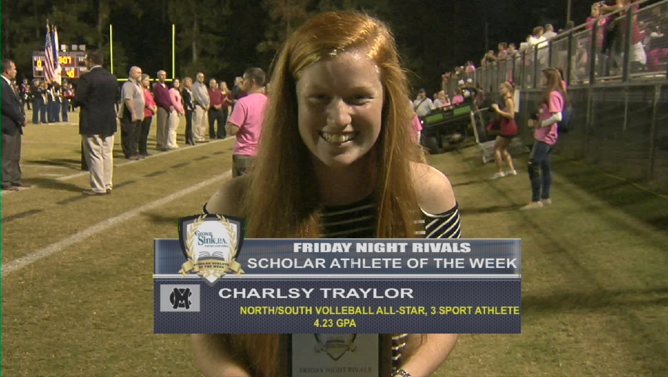 Charlsy Traylor is named a George Sink Injury Lawyer's Scholar Athlete for Week 10.