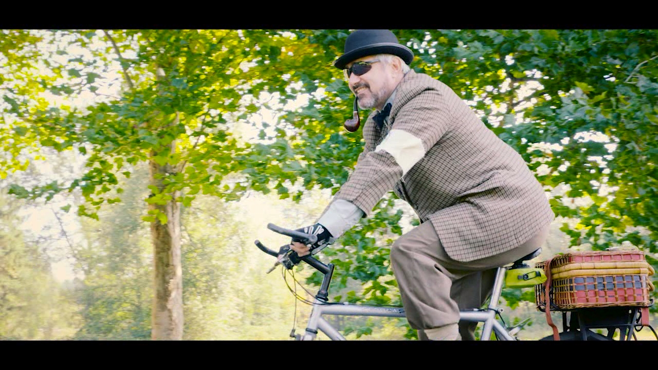 A group of merry-makers donned their dandiest Edwardian tweed outfits and mounted their antique bicycles.