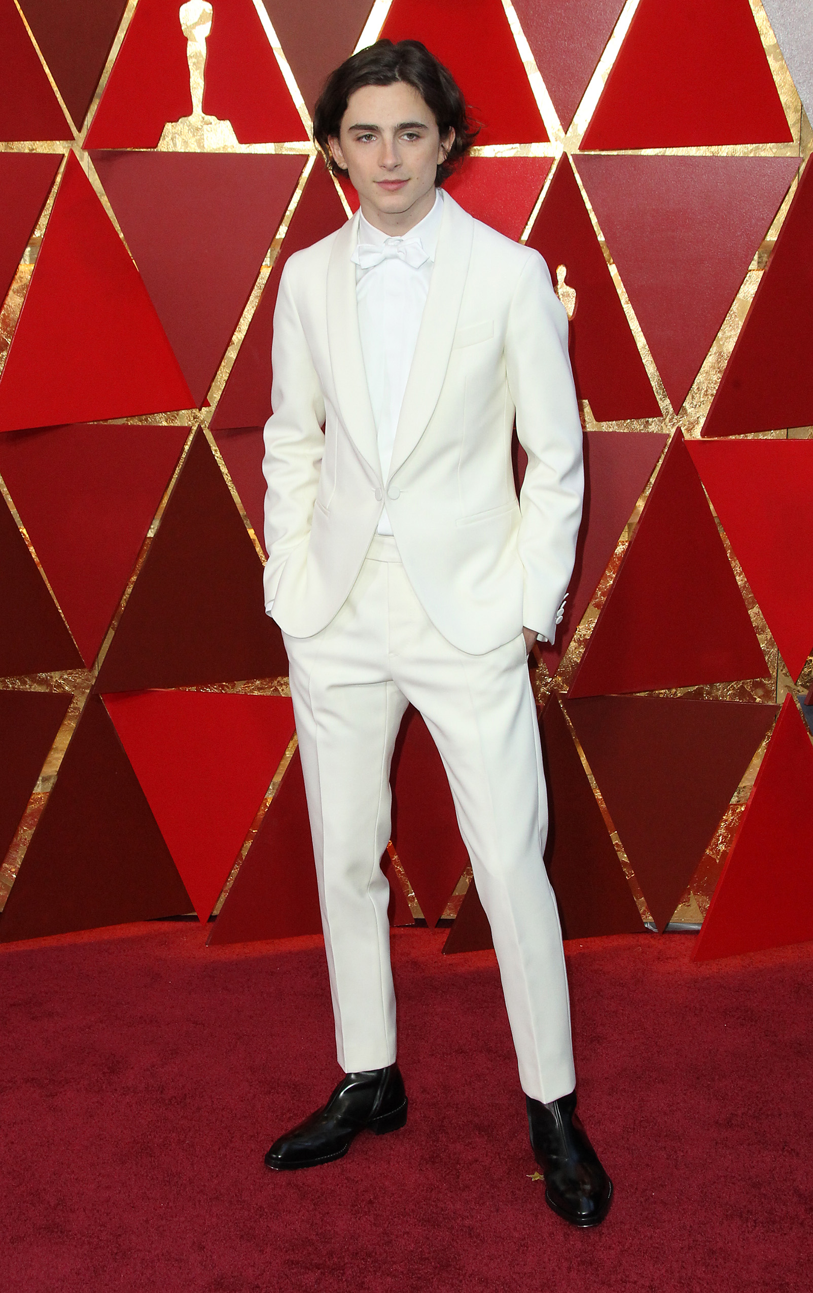 Timothee Chalametarrives at the 90th Annual Academy Awards (Oscars) held at the Dolby Theater in Hollywood, California. (Image: Adriana M. Barraza/WENN.com)<p></p>