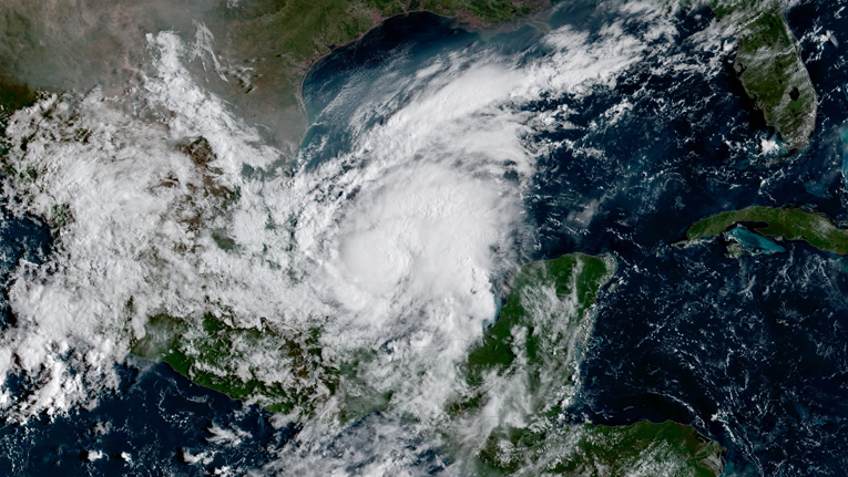 Hurricane Katia - Formed on September 6 in the southern portion of the Gulf of Mexico. It peaked as a category 2 storm on September 7 and weakened back to a Category 1 just before it made landfall in Veracruz, Mexico on September 8. Katia was a Hurricane at the same time as Irma and Jose. While it's not unheard of, it's not very common for the Atlantic basin to have three hurricanes at the same time.