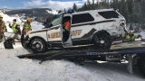 Slideshow: Gallatin Co. sheriff's vehicle totaled after semi crash