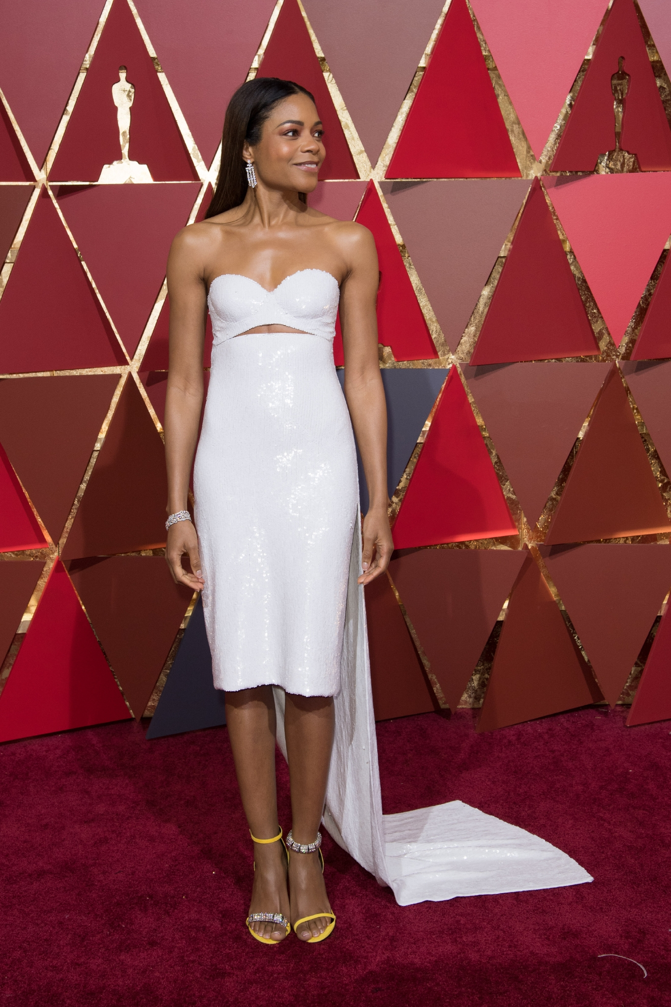 #7: Naomie Harris. That little peekaboo of abs! Yes Naomie! (Image: AMPAS)