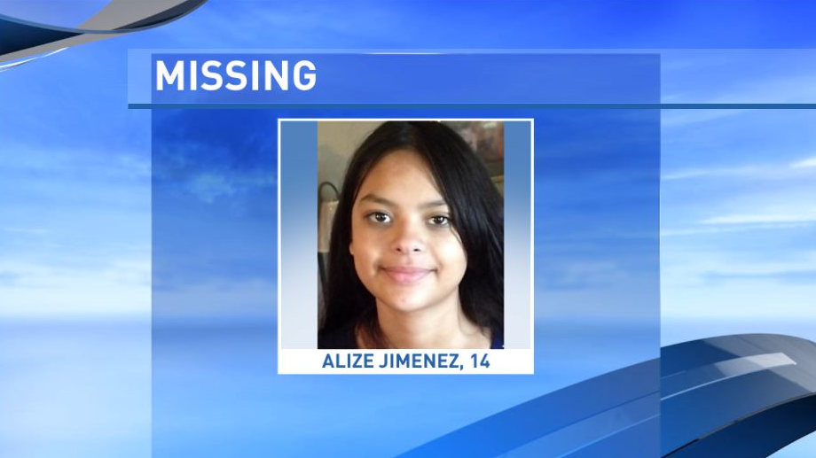 "Alize Jimenez has been missing since July 19, 2017. She is a 14-year-old who is about 5'1"" tall and weighs around 135 pounds. She has brown hair and brown eyes. Her lip and ears are pierced and she may use the alias last name ""Barbosa."" NCMEC said Jimenez may still be in the local area. (National Center for Missing and Exploited Children)"